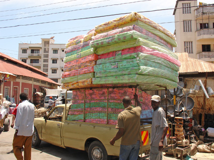 Buying the matrasses in Mombasa