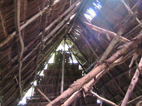 An example of a roof of a house in Makongeni Village in Kenia